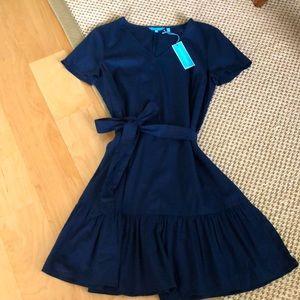 Draper James Navy Blue Dress